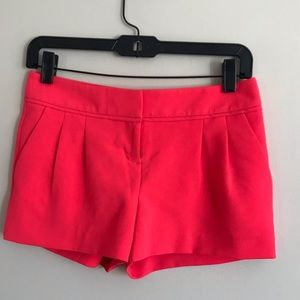 Pink Pleated Dress Shorts